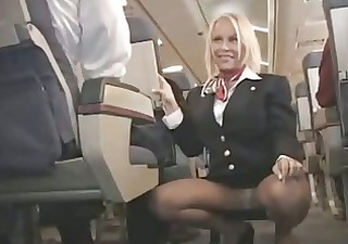 breasty stewardess screwed in a plane